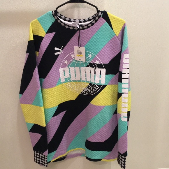 d52cb6de9b1bb3 Puma x Diamond Supply Co All Over Print Crew